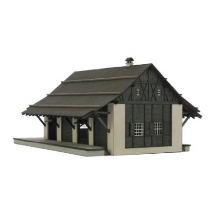 "Unique Laser-Cut Building Kit - Goods Shed ""Zernez (CH)"" - L: 218 mm x B: 168 mm x H: 104 mm - H0 (1:87) - (01-02-004)"