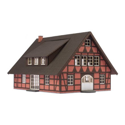 "Unique Laser-Cut Building Kit - Timber framed house ""Maria"" - L: 167mm x B: 120mm x H: 162m - H0 (1:87) - (01-03-001)"