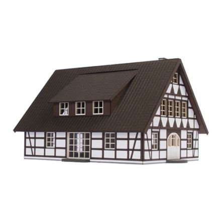 "Unique Laser-Cut Building Kit - Timber framed house ""Bergzicht"" - L: 167mm x B: 120mm x H: 162mm - H0 (1:87) - (01-03-010)"