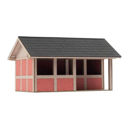"Unique Laser-Cut Building Kit - Bus stop ""Veldhausen"" - L: 81mm x B: 54m x H: 54mm  - H0 (1:87) - (01-04-002)"