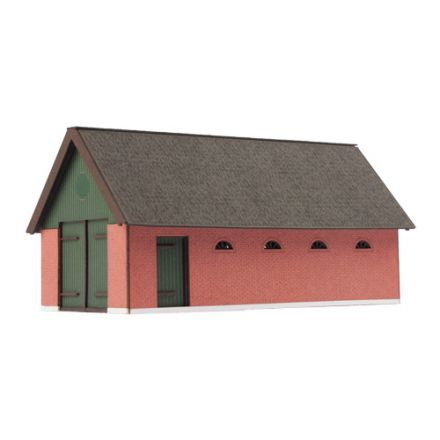 Unique Laser-Cut Building Kit - Feuerwehr Barn - L: 127mm x B: 65mm x H: 70mm - H0 (1:87) - (01-04-004)