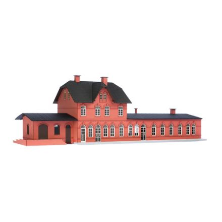 "Unique Laser-Cut Building Kit - Station ""Laarwald"" - L: 461mm x B: 151mm x H: 150mm - H0 (1:87) - (01-05-002)"