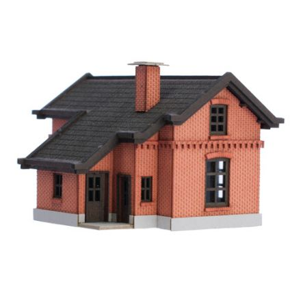 Unique Laser-Cut Building Kit - Rail Guard House 1# - L: 55mm x B: 45mm x H: 37mm - N (1:160) - (02-02-003)
