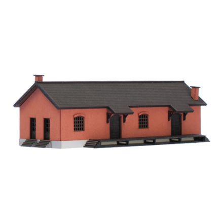 "Unique Laser-Cut Building Kit - Goods Shed ""Veghel"" - L: 140mm x B: 62mm x H: 43mm - N (1:160) - (02-02-004)"