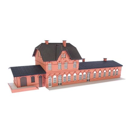 "Unique Laser-Cut Building Kit - Station ""Laarwald"" - L: 252mm x B: 83mm x H: 78mm  - N (1:160) - (02-05-001)"
