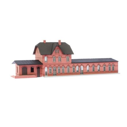 "Unique Laser-Cut Building Kit - Station ""Laarwald"" - L: 334mm x B: 110mm x H: 105mm - TT (1:120) - (03-05-001)"