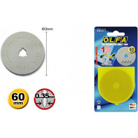Olfa Spare blade - for RTY-3/NS - 60mm - (RB60-1)
