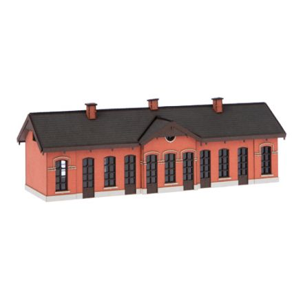 "Unique Laser-Cut Building Kit - Station ""Mill"" - Bricks wall - L: 163mm x B: 57mm x H: 43mm - N (1:160) - (10-0001-02)"