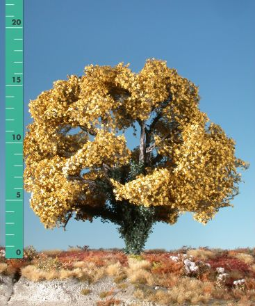 Silhouette Maple overgrown with ivy - Late fall (yellow) - 2 (ca. 15-20cm) - H0 (1:87) - (231-24)