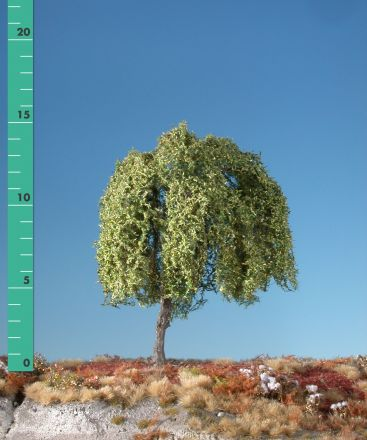 Silhouette Weeping willow - Early fall - 2 (ca. 15-20cm) - H0 (1:87) - (240-23)