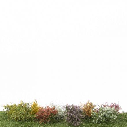 Silhouette Shrubs assortment, Profiline - Blooming -  ca. 3cm - H0 (1:87) - (252-05)