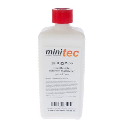 Minitec Highly flexible Ballast adhesive matt - 500 gr bottle - (59-0332-00)