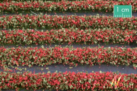 miniNatur Blossem strips - Red - ca. 336cm - H0 (1:87) - (731-23)