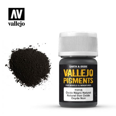 Vallejo Pigments - Eisenoxidschwarz - 30 ml - (73.115)
