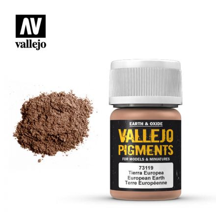 Vallejo Pigments - Europeische Erde - 30 ml - (73.119)