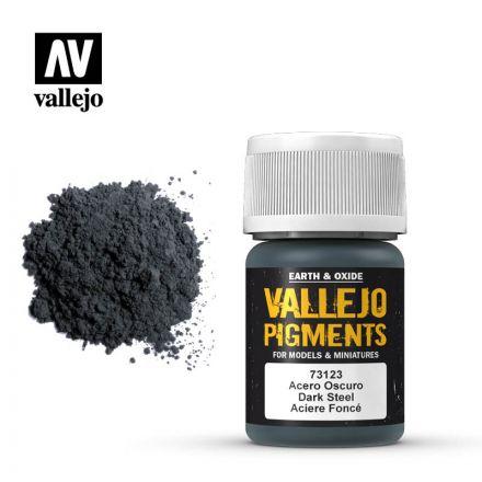 Vallejo Pigments - Dunkler Stahl - 30 ml - (73.123)
