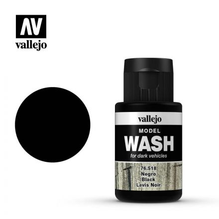 Vallejo Model Wash - Black - 35 ml - (76.518)